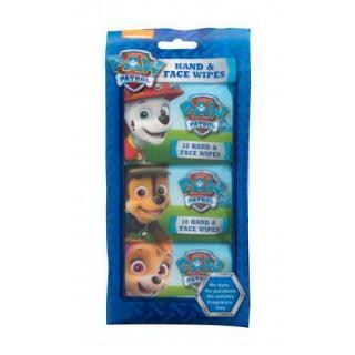 Nickelodeon Paw Patrol Hand & Face Wipes 30 ks čistiace obrúsky pre deti na veľmi suchú pleť 30 ks