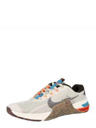 NIKE Bežecká obuv METCON 7  tmavosivá / biela / kaki / tyrkysová pánské 40,5