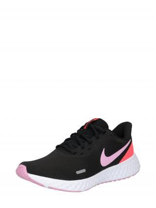 NIKE Bežecká obuv Revolution 5  ružová / čierna / lososová dámské 36,5