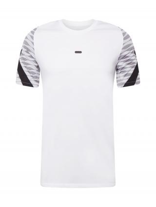 NIKE Funkčné tričko  biela / čierna / sivá pánské XXL