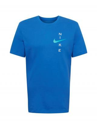 NIKE Funkčné tričko  kráľovská modrá / svetlomodrá / biela pánské S