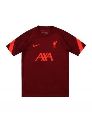 NIKE Funkčné tričko Liverpool FC  tmavočervená / melónová pánské 158