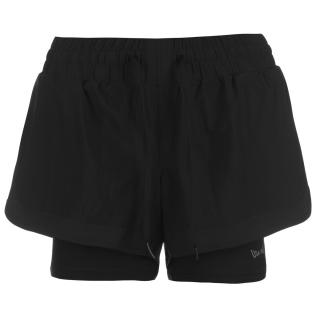 Nike Pro Dri-FIT Womens 3 Graphic Shorts čierna | biela | krémová M