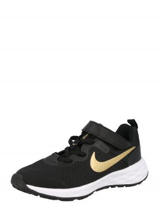 NIKE Športová obuv Revolution 6  čierna / zlatá dámské 28