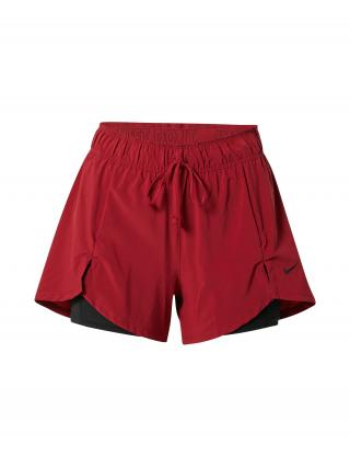 NIKE Športové nohavice  červená / čierna dámské XS