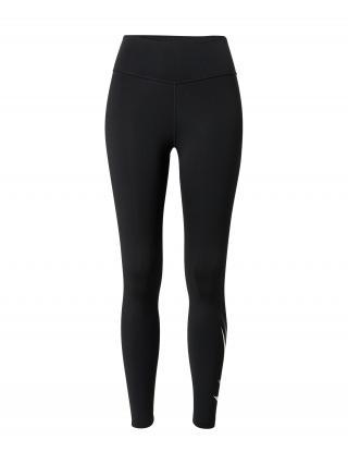 NIKE Športové nohavice  čierna / tmavosivá / biela dámské XS