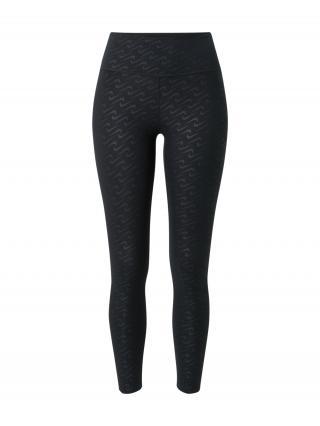 NIKE Športové nohavice  čierna / tmavosivá dámské XS