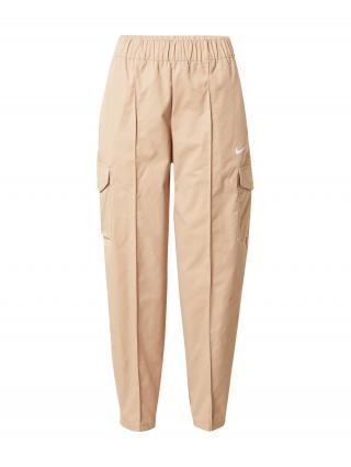 NIKE Športové nohavice  svetlobéžová dámské XS