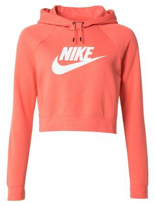 Nike Sportswear Mikina  koralová / biela dámské L