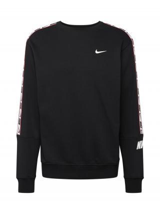 Nike Sportswear Mikina Repeat  biela / krvavo červená / čierna pánské L