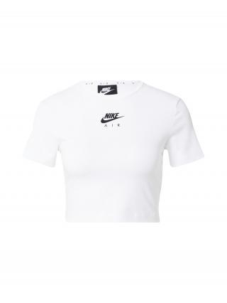Nike Sportswear Tričko  čierna / biela dámské XS