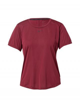 NIKE Tričko  farba lesného ovocia / čierna dámské XS