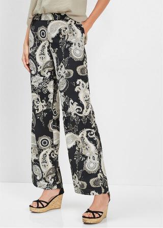 Nohavice s potlačou dámské čierna 42,36,38,40,44,46,48,50,52,54