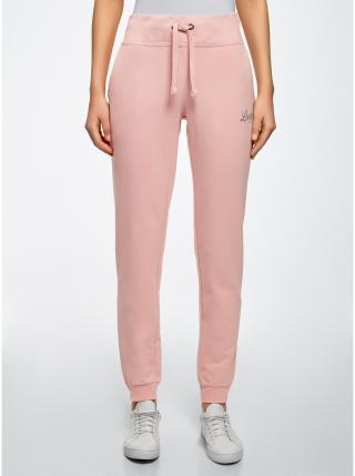 Nohavice úpletové športové OODJI dámské ružová L