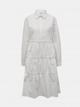 Noisy May biele košeľové šaty - XL dámské biela XL