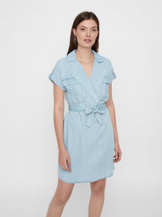 Noisy May modré košeľové šaty Vera - XS dámské modrá XS