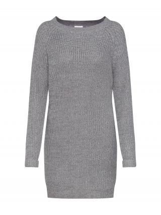 Noisy may Pletené šaty  sivá melírovaná dámské XL