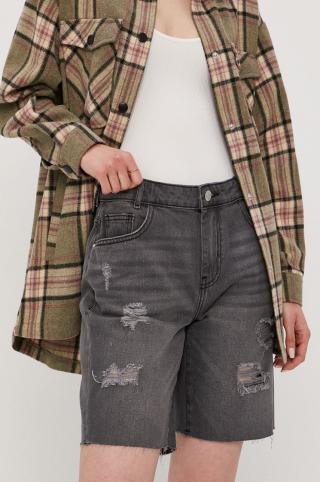 Noisy May - Rifľové krátke nohavice dámské sivá S