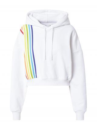 NU-IN Mikina  biela / zmiešané farby dámské XS