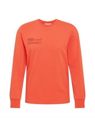 NU-IN Tričko  oranžovo červená / čokoládová pánské S
