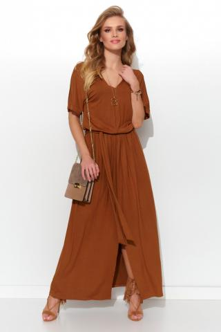 Numinou Womans Dress Nu278 Camel dámské Brown 36