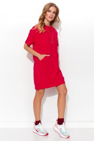 Numinou Womans Dress Nu286 dámské Red One size
