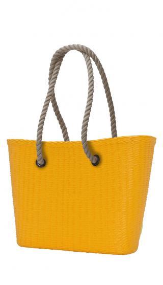 O bag  žlté kabelka URBAN MINI Cedro s dlhými povrazmi natural dámské žltá