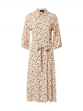OBJECT Košeľové šaty OBJNELLE  béžová dámské 42