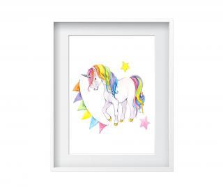 Obraz Unicorns 24x29 cm Pestrofarebná 24x29 cm