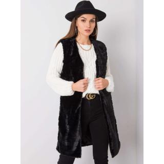 OCH BELLA Women´s black fur vest dámské Neurčeno S