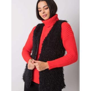 OH BELLA Black fur vest dámské Neurčeno S