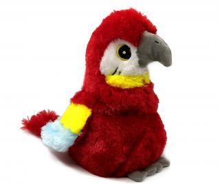 Ohrievajúca plyšová hračka Parrot Red Pestrofarebná
