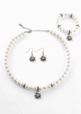 Oktoberfest súprava šperkov dámské biela