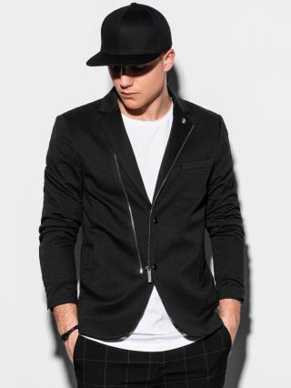 Ombre Clothing Mens casual blazer jacket M160 pánské Black S