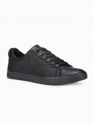 Ombre Clothing Mens high-top trainers T351 pánské Black 40