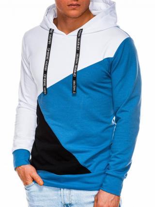 Ombre Clothing Mens hoodie B1050 pánské Blue XXL