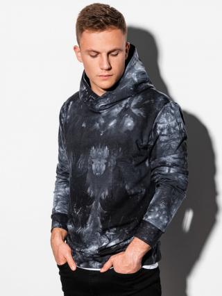Ombre Clothing Mens hoodie B1070 pánské Black S