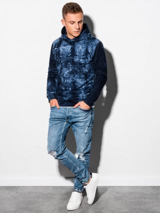 Ombre Clothing Mens hoodie B1070 pánské Navy S