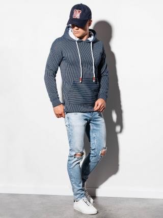 Ombre Clothing Mens hoodie B1092 pánské Navy S