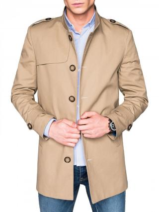 Ombre Clothing Mens mid-season coat C269 pánské Beige M