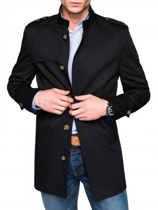 Ombre Clothing Mens mid-season coat C269 pánské Black M
