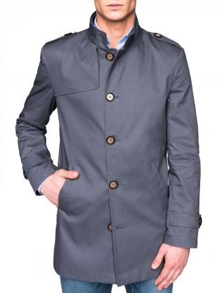 Ombre Clothing Mens mid-season coat C269 pánské Grey M