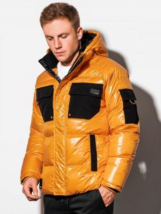 Ombre Clothing Mens mid-season jacket C457 pánské Yellow S