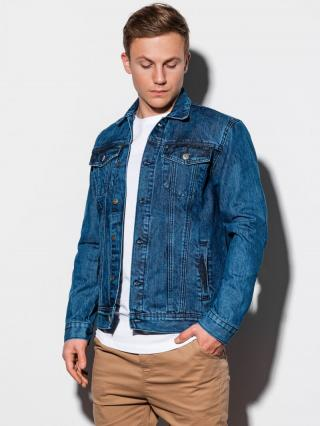 Ombre Clothing Mens mid-season jeans jacket C441 pánské S