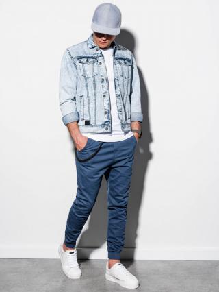 Ombre Clothing Mens mid-season jeans jacket C441 pánské S