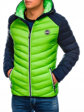 Ombre Clothing Mens mid-season quilted jacket C354 pánské Green M