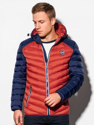 Ombre Clothing Mens mid-season quilted jacket C366 pánské Orange S