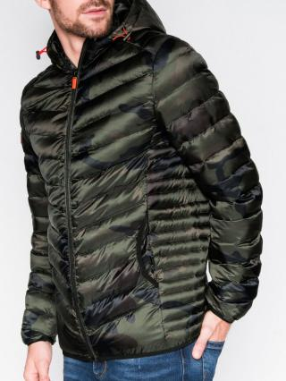 Ombre Clothing Mens mid-season quilted jacket C368 pánské Green M