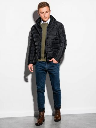 Ombre Clothing Mens mid-season quilted jacket C445 pánské Black M