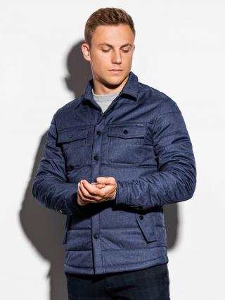 Ombre Clothing Mens mid-season quilted jacket C452 pánské Navy S
